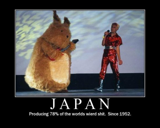 Japan — producing 78% of the world's weird shit. Since 1952